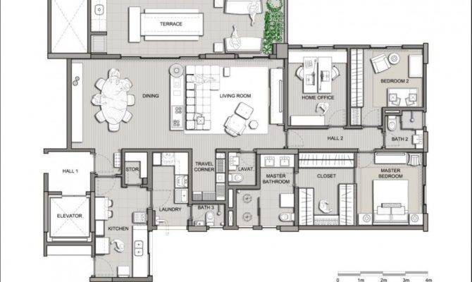 Modern Apartment Plans House Villa