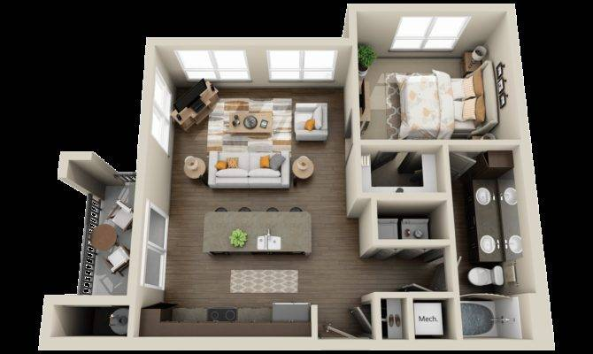Modern Apartments Houses Floor Plans Different Models