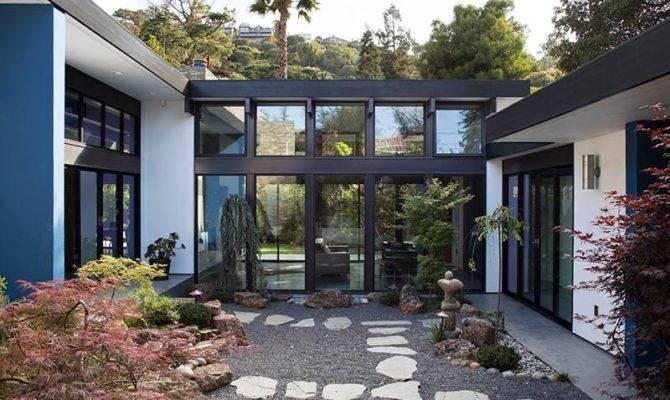 Modern Atrium House Klopf Architecture Lab