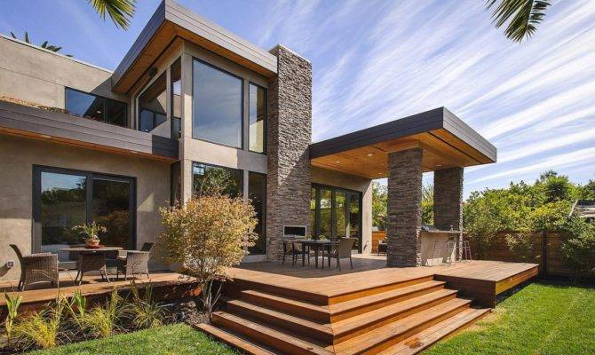 Modern Backyard Terrace Contemporary Style Home Burlingame