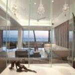 Modern Beach House Living Room Glass Design