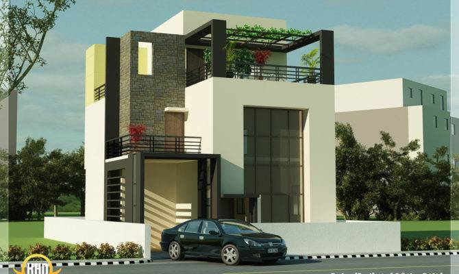 Modern Beautiful Duplex House Design Home Designer