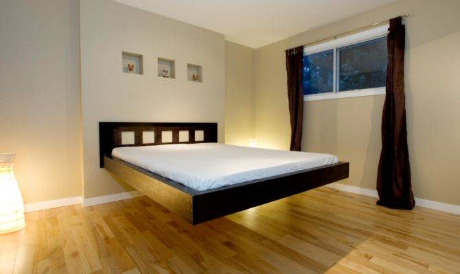 Modern Bedroom Design Ideas Cool Black Wood Floating