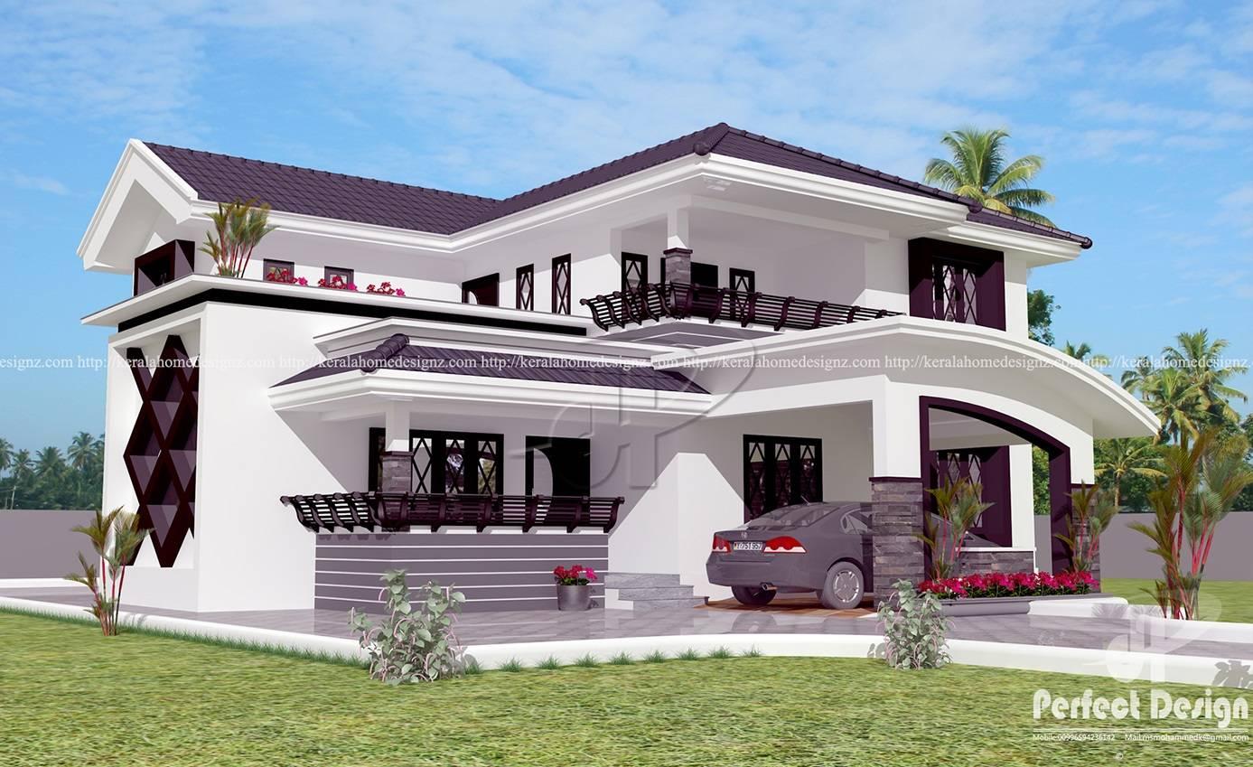 Modern Bedroom Home Design Kerala House Plans 123556