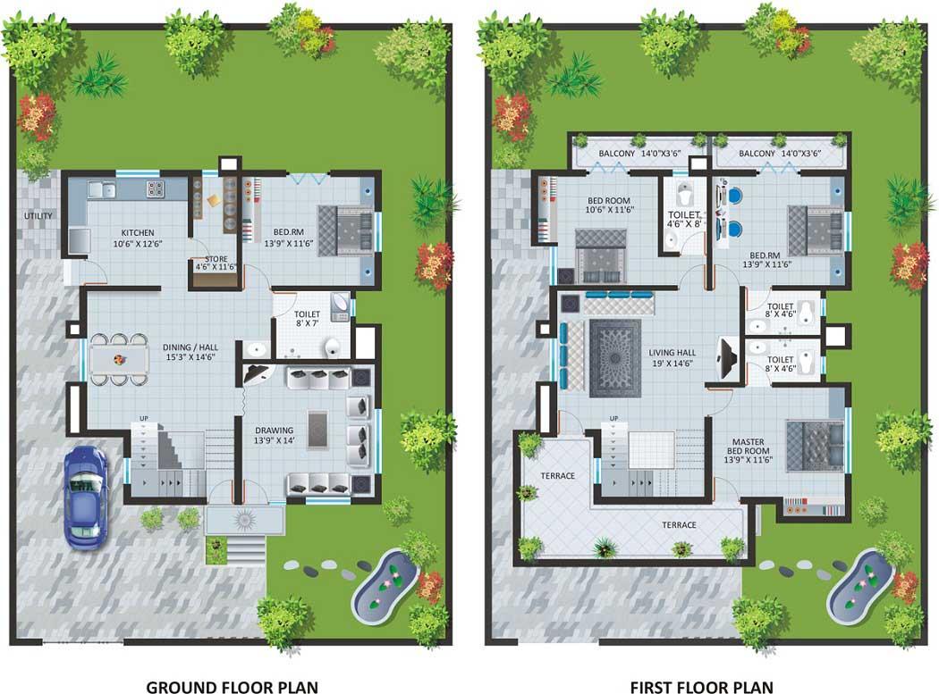 Modern Bungalow House Designs Floor Plans Type House Plans 170299