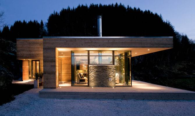 Modern Cabin Bjerg Norway Gudmundur Jonsson