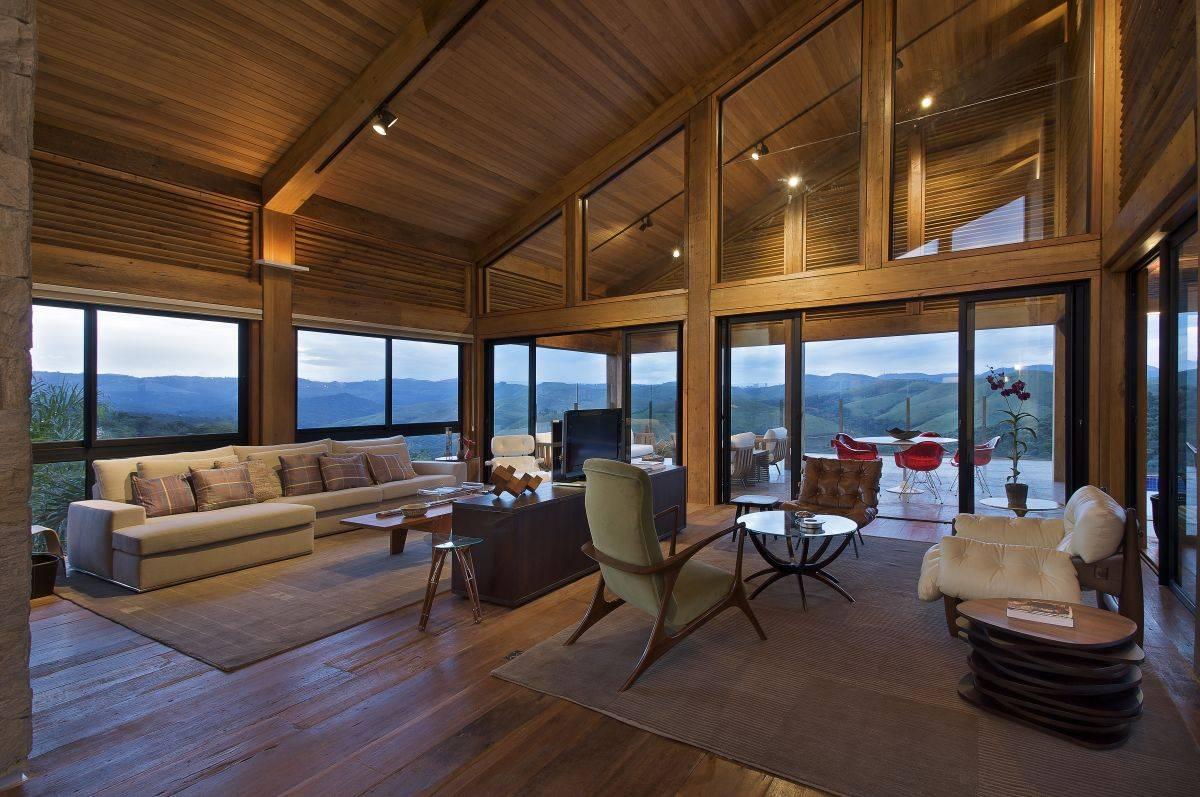 Modern Contemporary Interior Design modern contemporary wood house interior design ideas zeospot