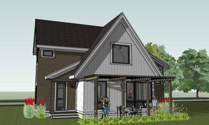 Modern Cottage Floor Plan Scandia House