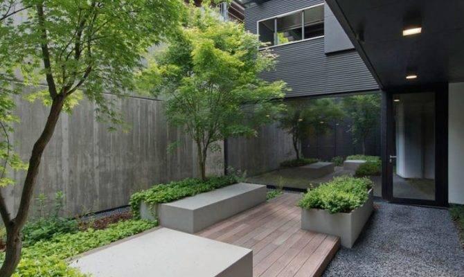 Modern Courtyard Design Garden Ideas Home Inspiration