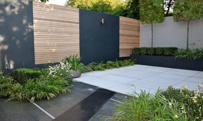 Modern Courtyard Garden Design London Cat Howard