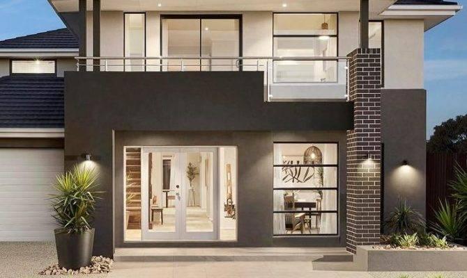 Modern Dark Gray White Story Glass House
