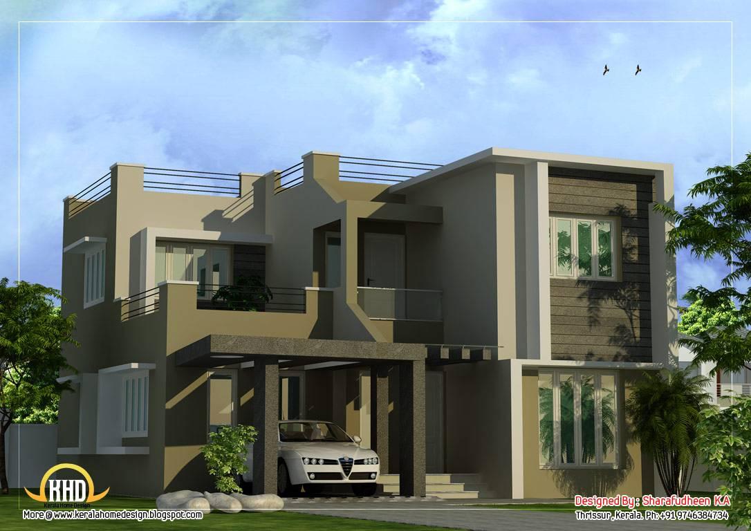 Modern Duplex Home Design Kerala House Plans 60841