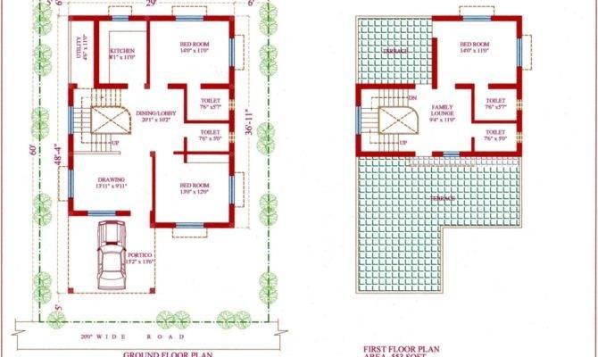 Modern Duplex Plans Garage Middle Interior