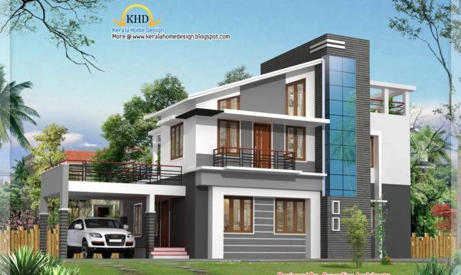 Modern Duplex Villa Elevation Kerala Home Design