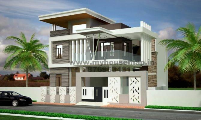 Modern Elevation Bungalow Design Front