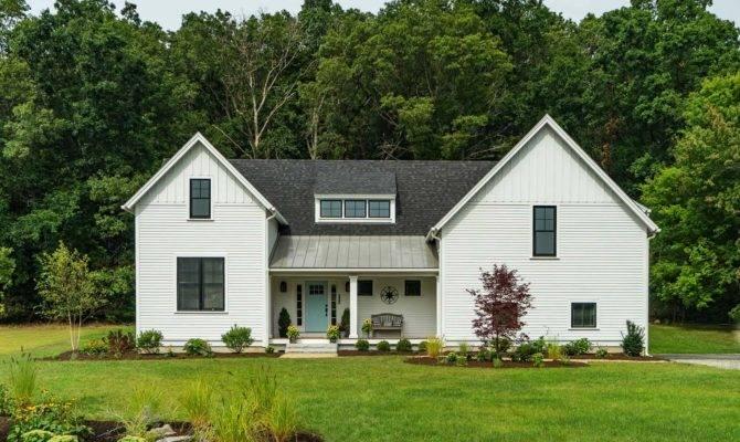 Modern Farmhouse Style Nestled Idyllic Woodsy New