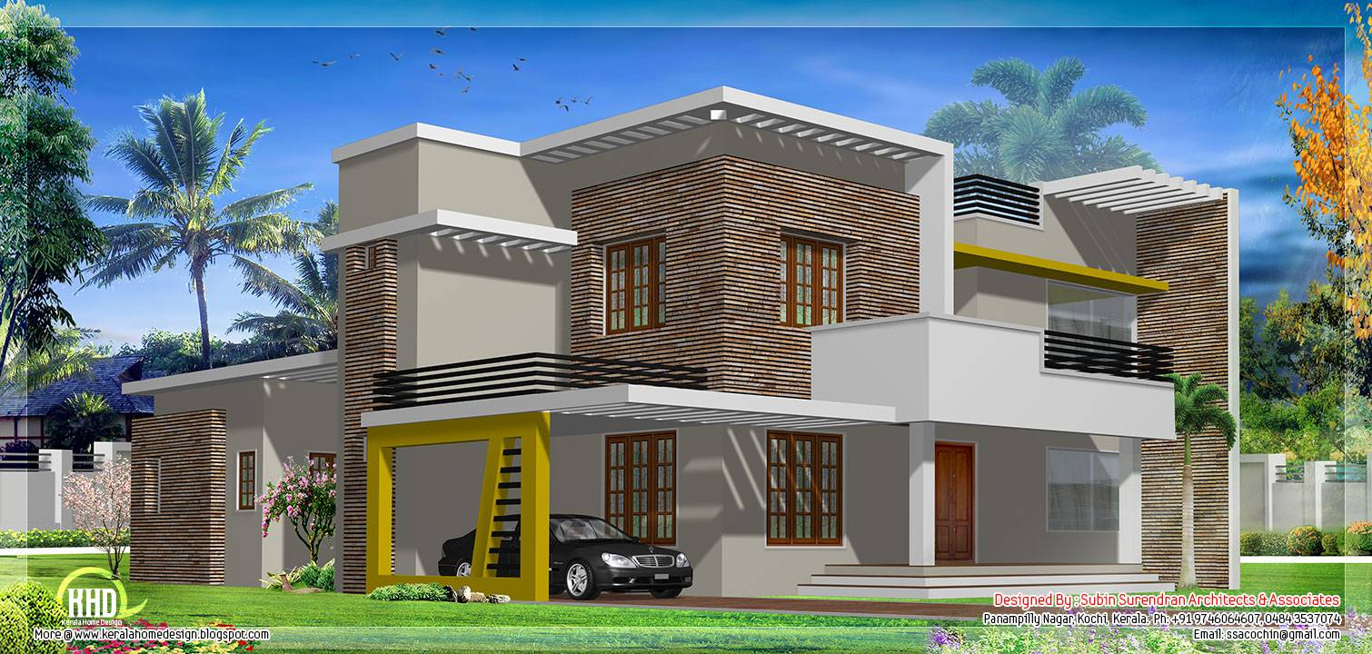 Modern Flat Roof House Design Plans House Plans 55446