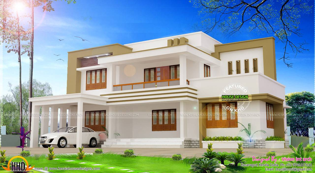 Modern Flat Roof House Plan Vision Int Arch Kerala Home Design House Plans 15528