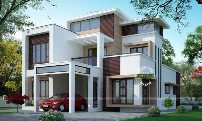 Modern Flat Roof Three Storey Home Youtube