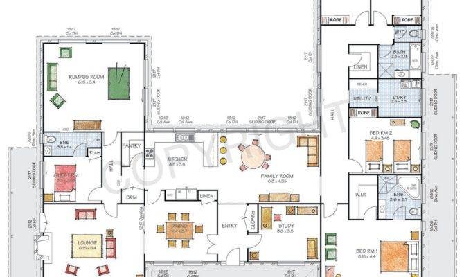 Modern Floor Plan Friday Shaped Home Acreage House