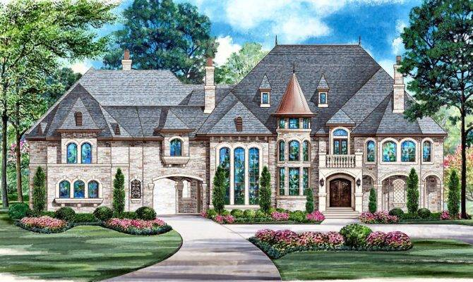 Modern French Country House Plans New Dallas Design Group