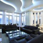 Modern Great Room Chandelier Simple Marble Floors