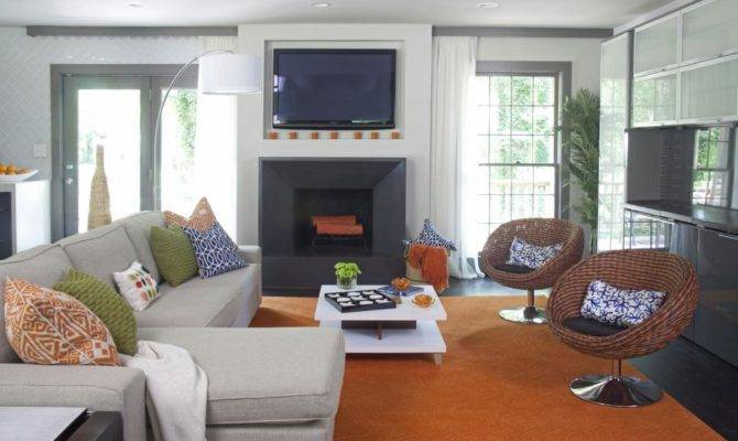 Modern Great Room Fits Elbow Hgtv
