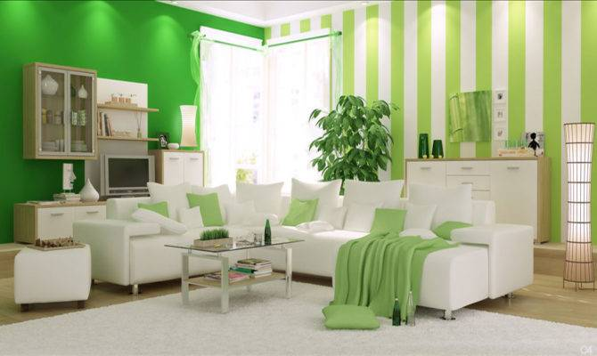 Modern Green Living Rooms Photos