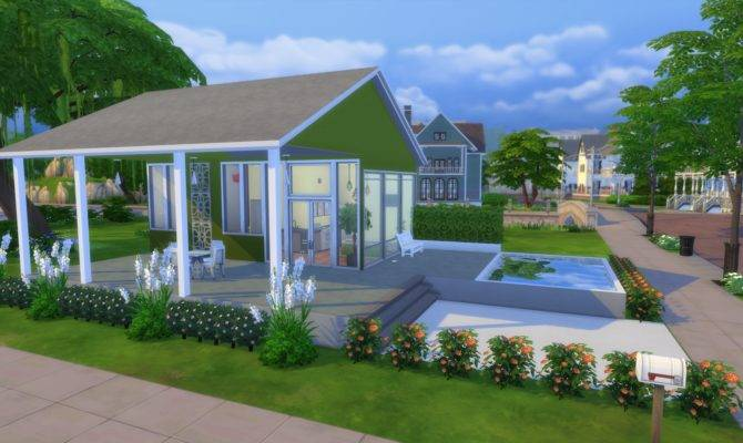 Modern Green Tiny House Tour Sims Legacy Challenge