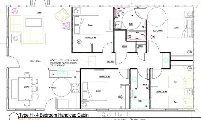 Modern Handicap Accessible Bathroom Floor Plans