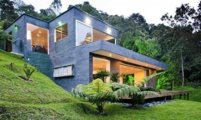 Modern Hillside House Plans Awesome