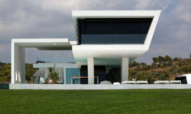Modern Home Designs Flat Roof Design Wide Windows Green Lawn House Plans 59883