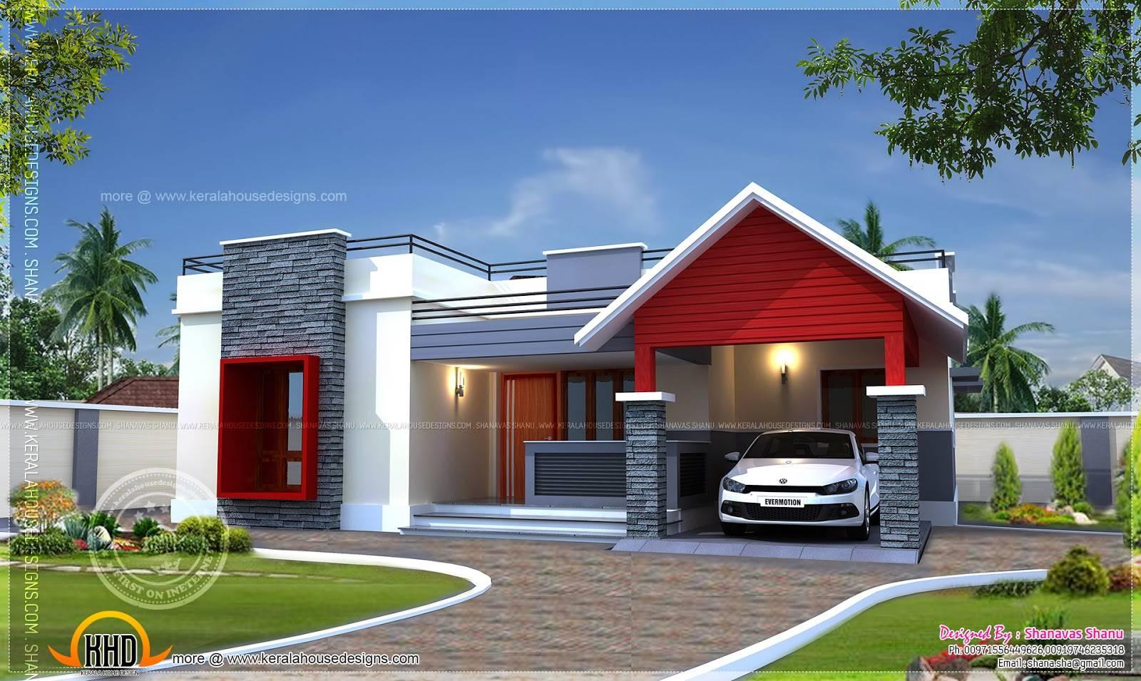 Modern Home Designs Single Floor Plan Square Feet House Plans 77169
