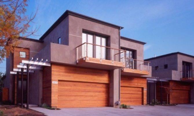 Modern Home Designs Wood Garage Door