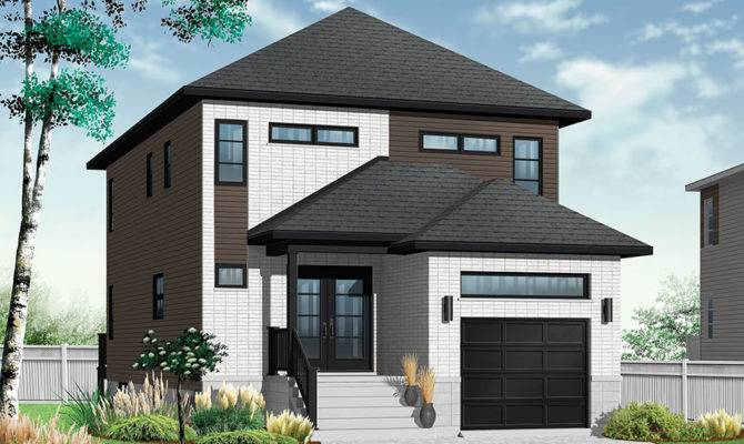 Modern Home Perfect Narrow Lot Drummond House Plans Blog