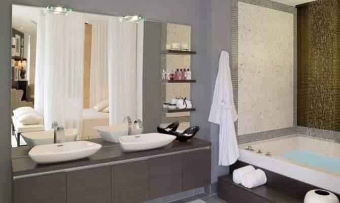 Modern Homes Bathrooms Setting Ideas