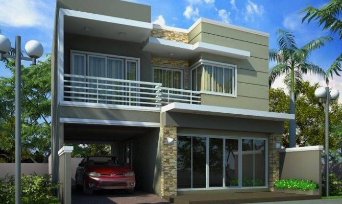 Modern Homes Front Views Terrace Designs Ideas Home Design House Plans 70097