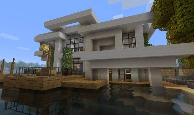 Modern House Beach Town Project Minecraft