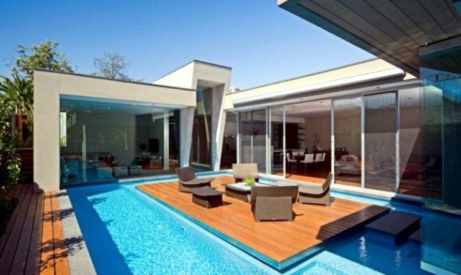 Modern House Canterbury Wooden Deck Pool