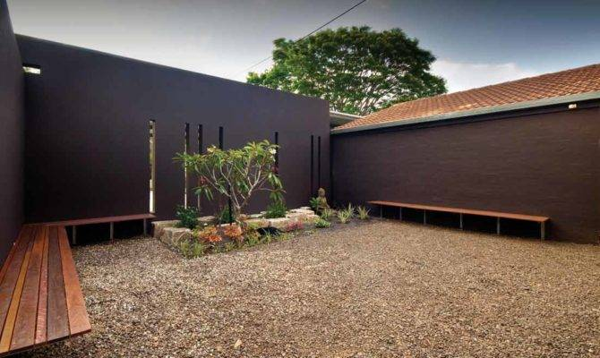 Modern House Courtyard Design Interior Garden Trends