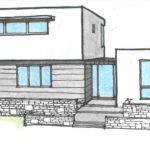 Modern House Drawing Getdrawings