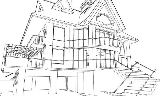 Modern House Drawing Getdrawings