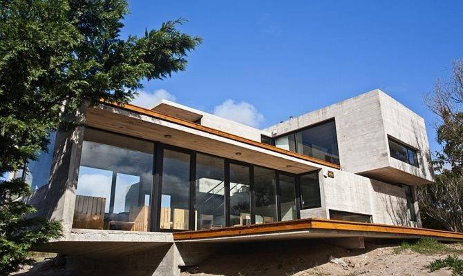 Modern House Glass Concrete Steel