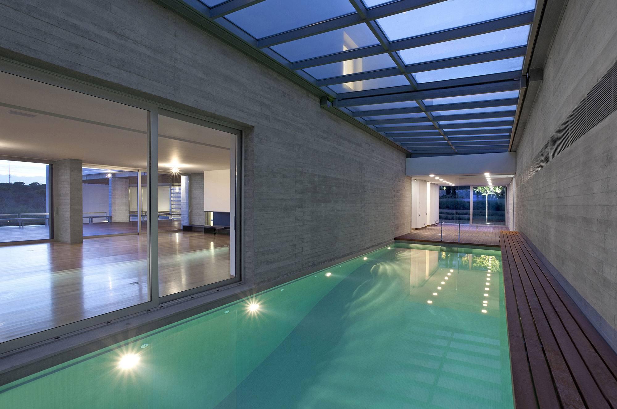Modern House Indoor Pool Design House Plans 63591
