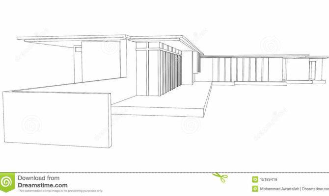 Modern House Perspective Drawing