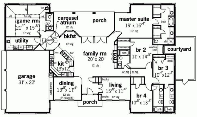 Modern House Plan Impressive One Level Square Feet