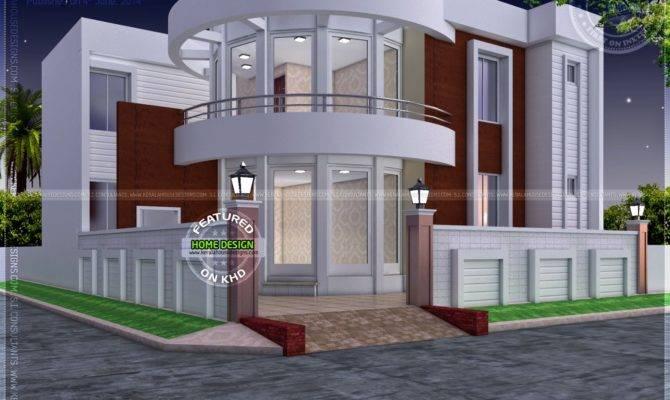 Modern House Plan Round Design Element Kerala Home