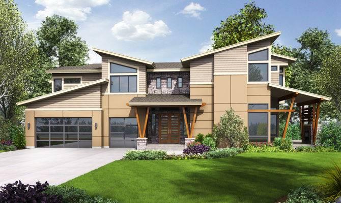 Modern House Plan Sun Patio Covered Outdoor