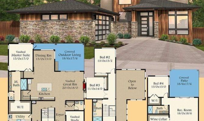Modern House Plans Architectural Designs