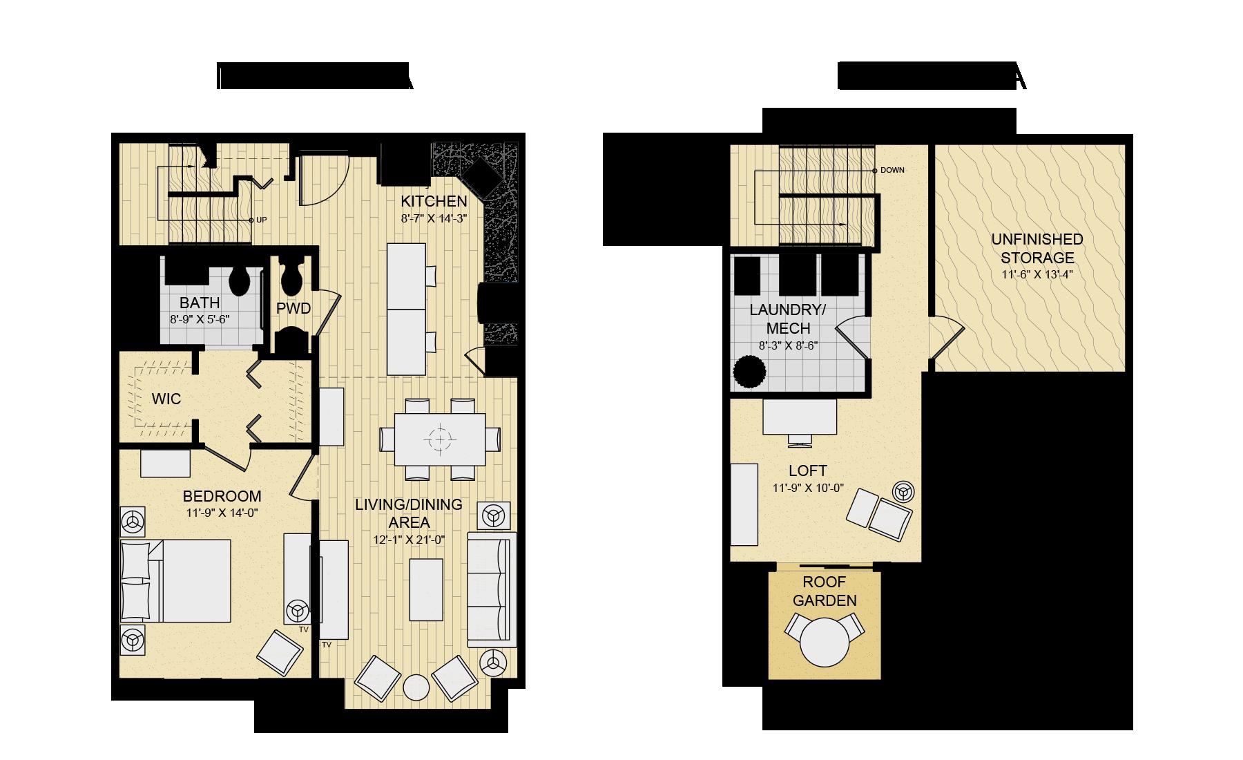 Modern House Plans Bedroom Loft Floor Plan Open Design House Plans 178140